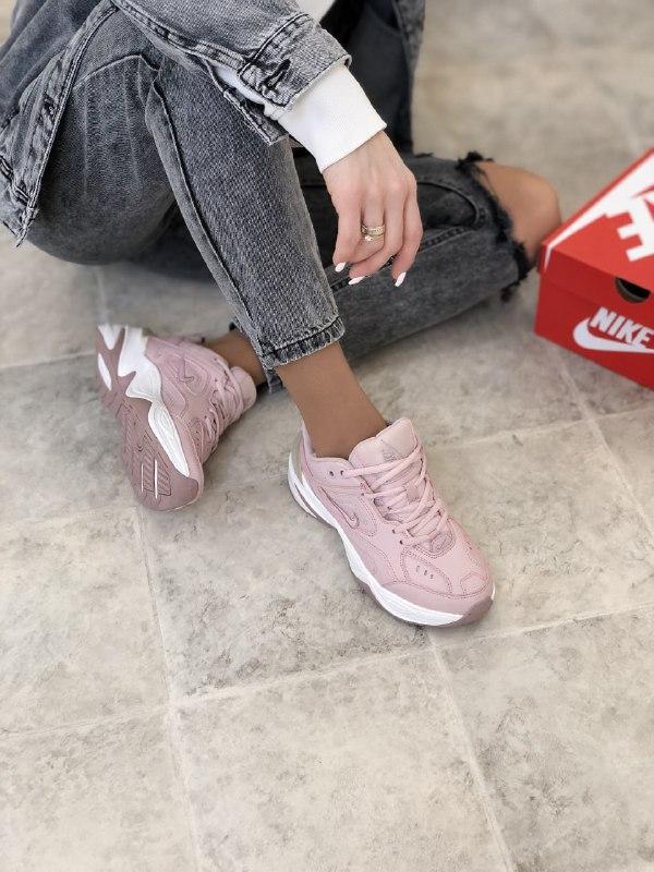 Женские кроссовки Nike Tekno M2K в стиле найк текно Розовые (Реплика ААА+)