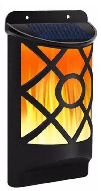 VARGO 3W пламя LED настенный светильник на солнечной батарее