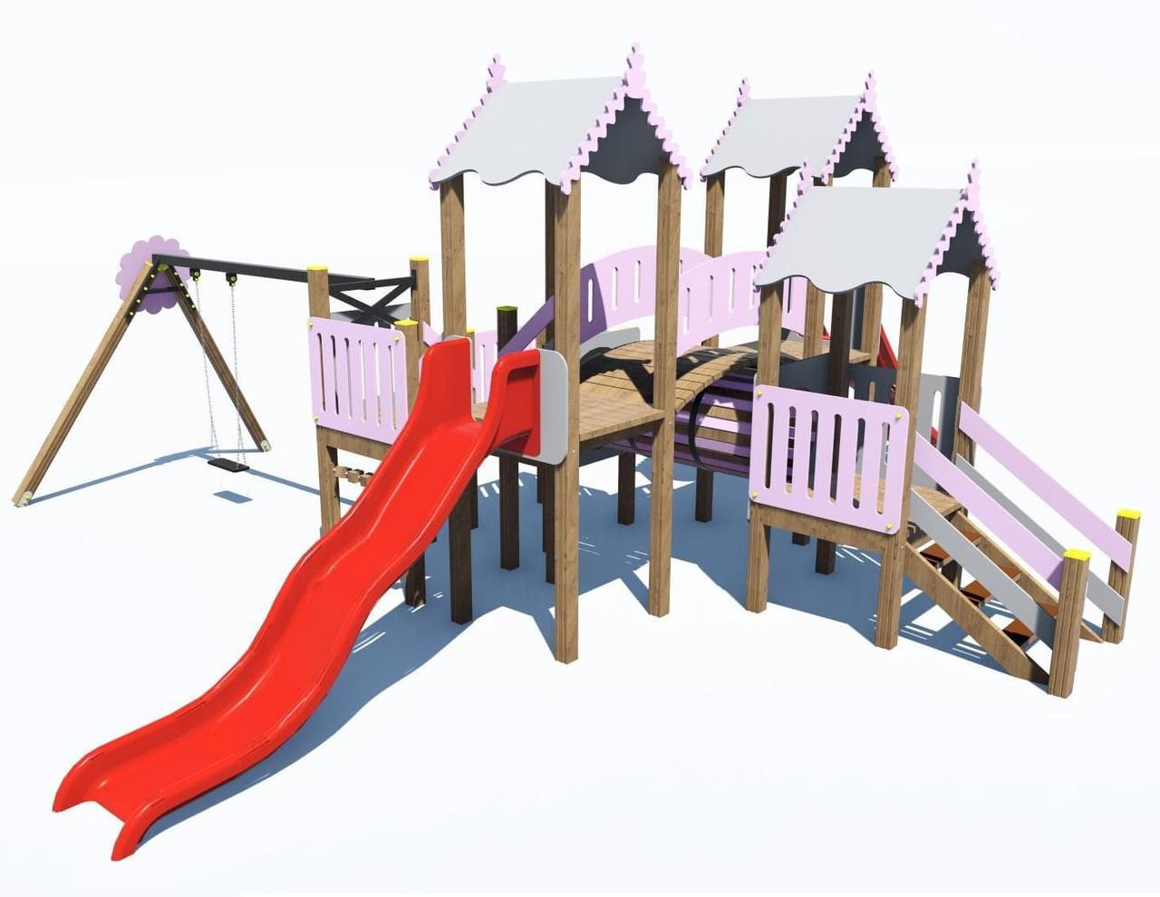Детский игровой комплекс «ПЛАСТ-6» IК-6.76