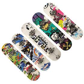 Скейтборд: канадський клен, наждак, колеса-поліуретан (PU)