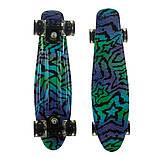 Пенні борд (скейт), двосторонній забарвлення, сяючі поліуретанові (PU) колеса, фото 4