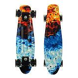 Пенні борд (скейт), двосторонній забарвлення, сяючі поліуретанові (PU) колеса, фото 6