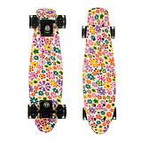 Пенні борд (скейт), двосторонній забарвлення, сяючі поліуретанові (PU) колеса, фото 8