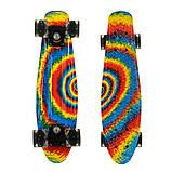 Пенні борд (скейт), двосторонній забарвлення, сяючі поліуретанові (PU) колеса, фото 10