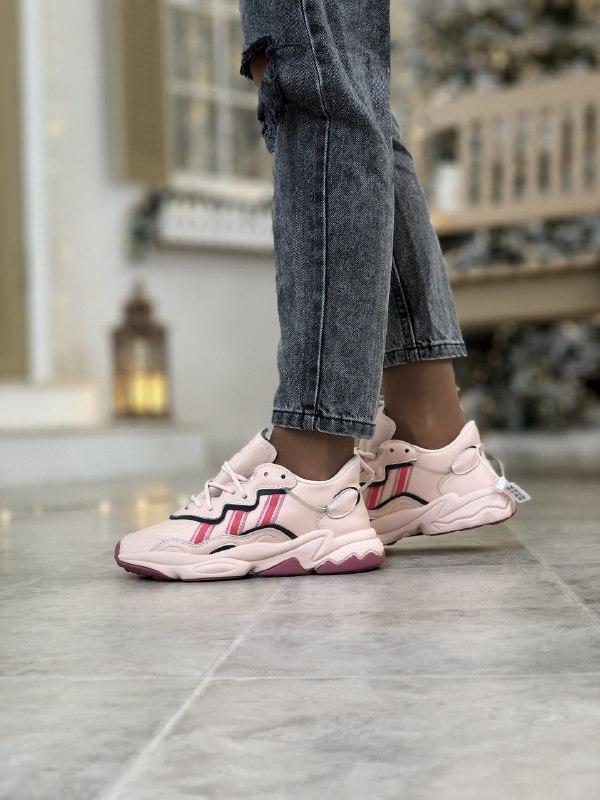 Женские кроссовки Adidas Ozweego в стиле Адидас Озвиго Розовые (Реплика ААА+)