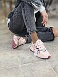 Женские кроссовки Adidas Ozweego в стиле Адидас Озвиго Розовые (Реплика ААА+), фото 4