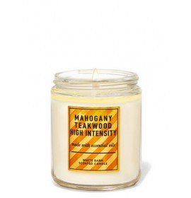 Свеча ароматизированная Bath and Body Works Mahogany Teakwood High Intensity Scented Candle 198 г
