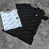 Мужская футболка Stone Island CK1658 белая, фото 2