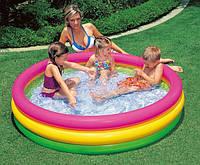 """Детский надувной бассейн """"Закат солнца"""". Размер бассейна Intex 57422 147 х 33 см."""