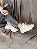 Женские кроссовки Adidas Yeezy Boost 500 в стиле адидас изи буст Белые (Реплика ААА+), фото 4