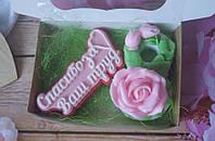 Женский подарочный набор мыла ручной работы 8 Марта. Красивый подарок для женщин