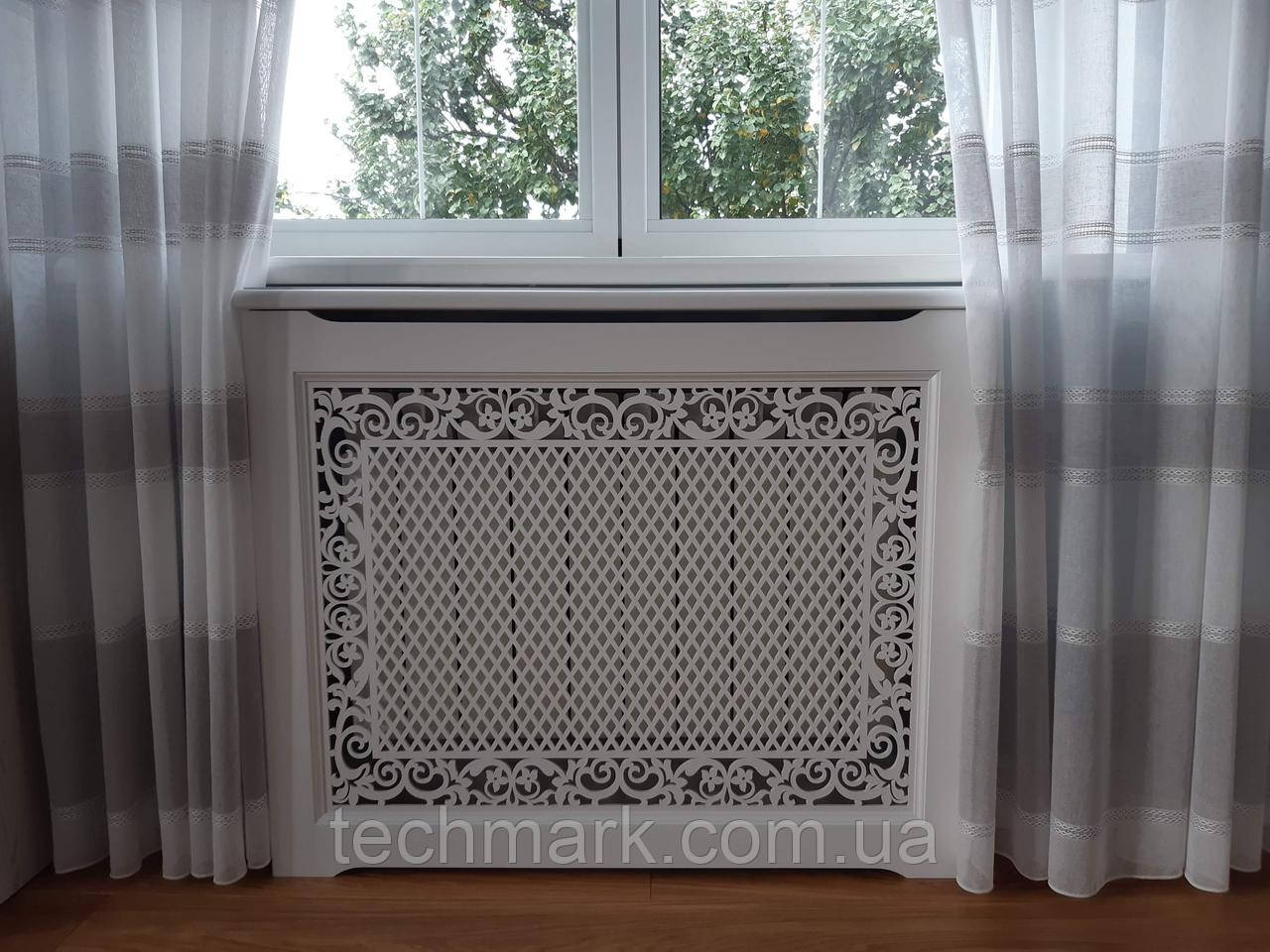 Декоративная решетка экран (короб) на батарею отопления R55-K60