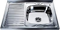 Кухонная мойка накладная Турция правая