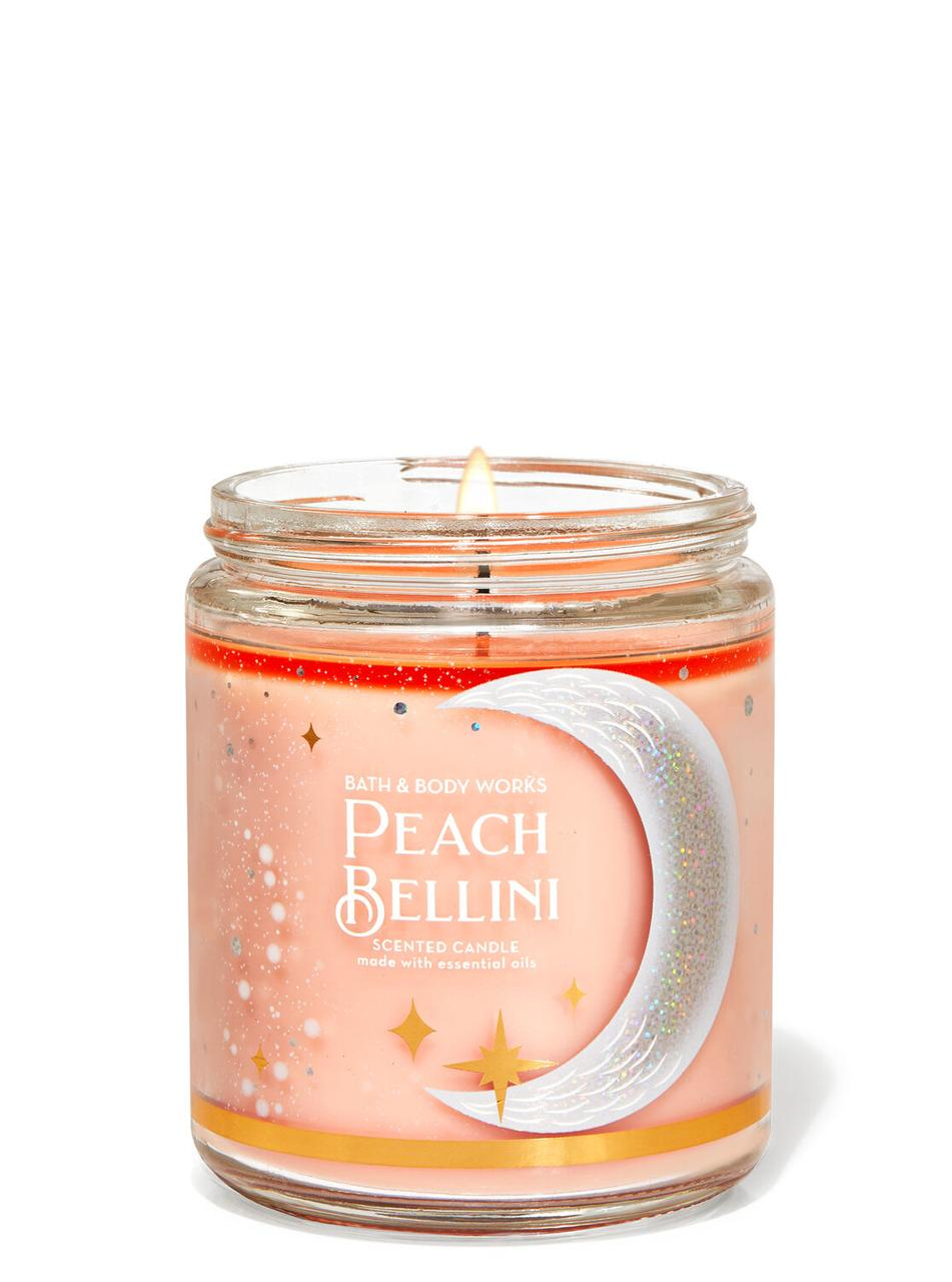 Свеча ароматизированная Bath and Body Works Peach Bellini Scented Candle 198 г