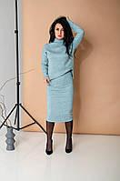 Трикотажный теплый костюм бирюзовый, фото 1