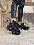 Женские кроссовки Balmain Bold в стиле балмейн болд ЧЕРНЫЕ (Реплика ААА+), фото 3