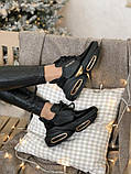 Женские кроссовки Balmain Bold в стиле балмейн болд ЧЕРНЫЕ (Реплика ААА+), фото 5