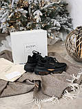 Женские кроссовки Balmain Bold в стиле балмейн болд ЧЕРНЫЕ (Реплика ААА+), фото 7