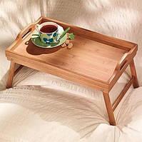 Прикроватный деревянный столик для завтрака Florence Флоренция (столик-поднос) на ножках Венге