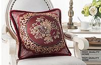 Новинка ! Жаккардовая наволочка на декоративную подушку 48х48 см, наволочка с вышивкой, домашний текстиль,.