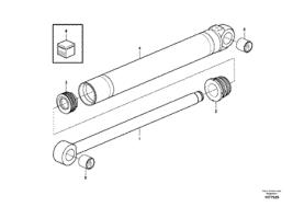 Ремкомплект (набір ущільнень) ГЦ рукояті VOE17432140 для Volvo BL61 PLUS, BL71 PLUS