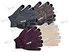 Зимние теплые перчатки iWinter для сенсорных экранов мужские женские Size S Коричневый / Белый (D-Z01) [2438], фото 2
