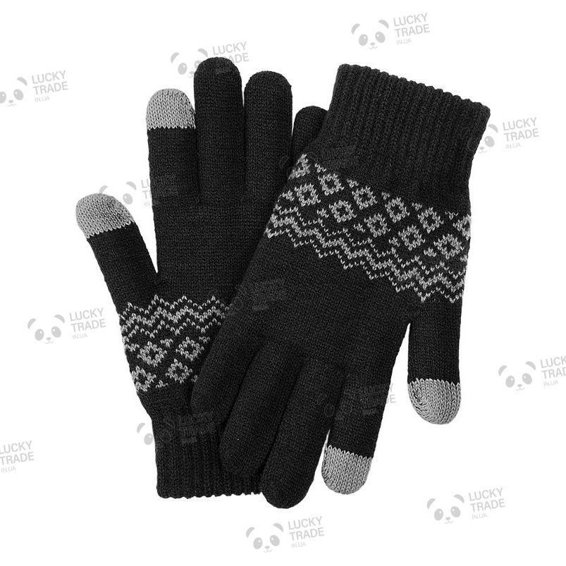 Зимние теплые перчатки Xiaomi FO Touch Screen Gloves для сенсорных экранов мужские женские Черный [2016]