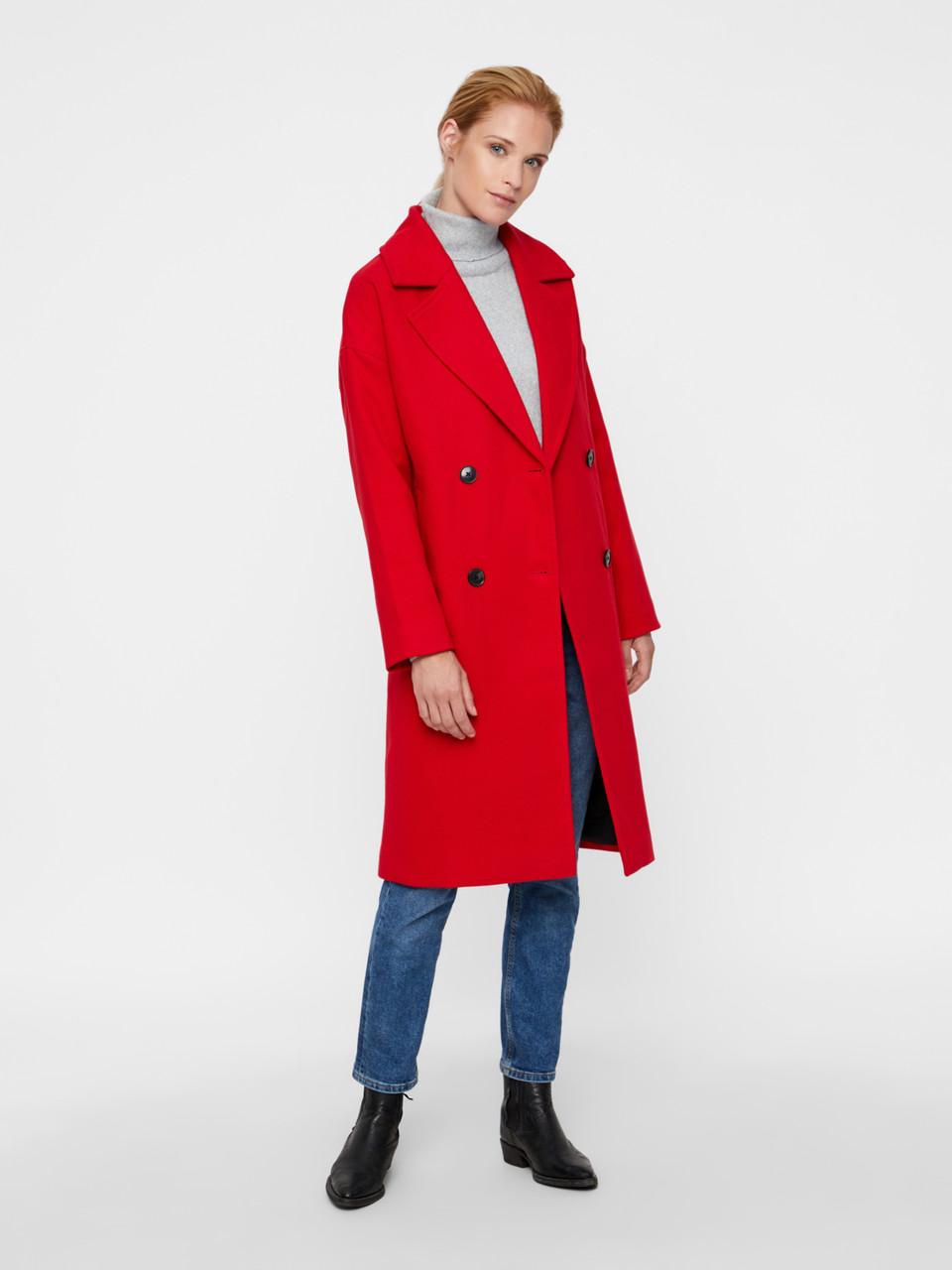 Пальто Vero Moda 10202265 M Красный