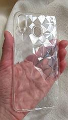 Cиликоновый чехол на Samsung Galaxy A50 прозрачный