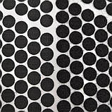 Круглая липучка черная 18мм, фото 2