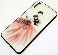 Чехол для Huawei Y9 2019 Glass Case стеклянный / TPU с рисунком