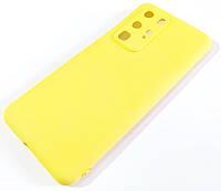Чехол для Huawei P40 Pro матовый Silicone Case Full Cover Macarons Color Желтый