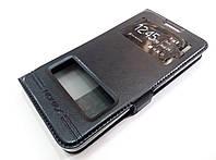 Чехол книжка с окошками momax для Lenovo A606 черный