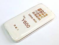 Чехол для Huawei Ascend Y600 силиконовый ультратонкий прозрачный