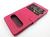Чехол книжка с окошками momax для Lenovo A880 / A889 розовый