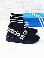 Кроссовки-носочки женские \ подростковые Adidas адидас кросы 37-41р.