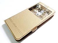 Чехол книжка с окошком momax для Lenovo K6 Note k53a48 золотой