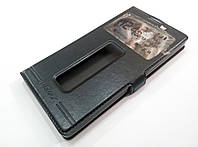 Чехол книжка с окошками momax для Lenovo P90 черный