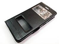 Чехол книжка с окошками momax для Lenovo S660 черный