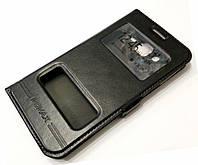 Чехол книжка Momax с окошками для Samsung Galaxy J5 j500 (2015) черный
