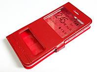 Чехол книжка с окошками momax для Huawei Honor 9 красный