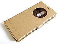 Чехол книжка с окошком momax для LG G3 d855 золотой