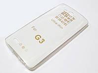Чехол для LG G3 d855 силиконовый ультратонкий прозрачный