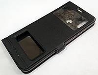 Чехол книжка с окошками momax для Huawei Honor Play черный