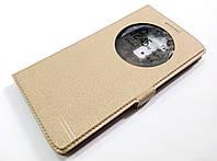 Чехол книжка с окошком momax для LG G4 Stylus золотой