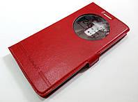 Чехол книжка с окошком momax для LG G4 Stylus красный