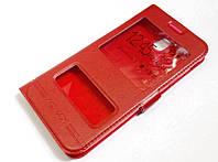 Чехол книжка с окошками momax для Samsung Galaxy J5 j530 (2017) красный