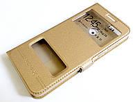 Чехол книжка с окошками momax для Huawei P smart / Enjoy 7s золотой