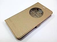 Чехол книжка с окошком momax для LG Bello II x150 / Bello 2 / LG Max x155 gold