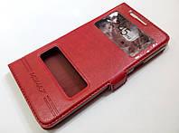Чехол книжка с окошками для Samsung Galaxy A5 A510 (2016) красный